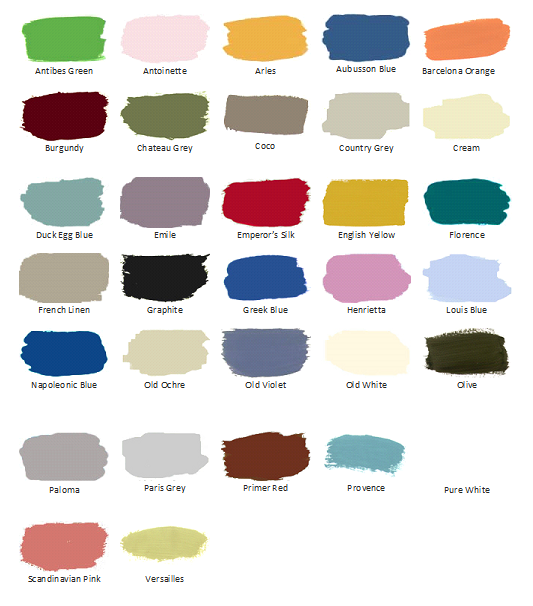 Paint Sample annie sloan chalk paint and wax samples, 33 colors paint, 4 waxes