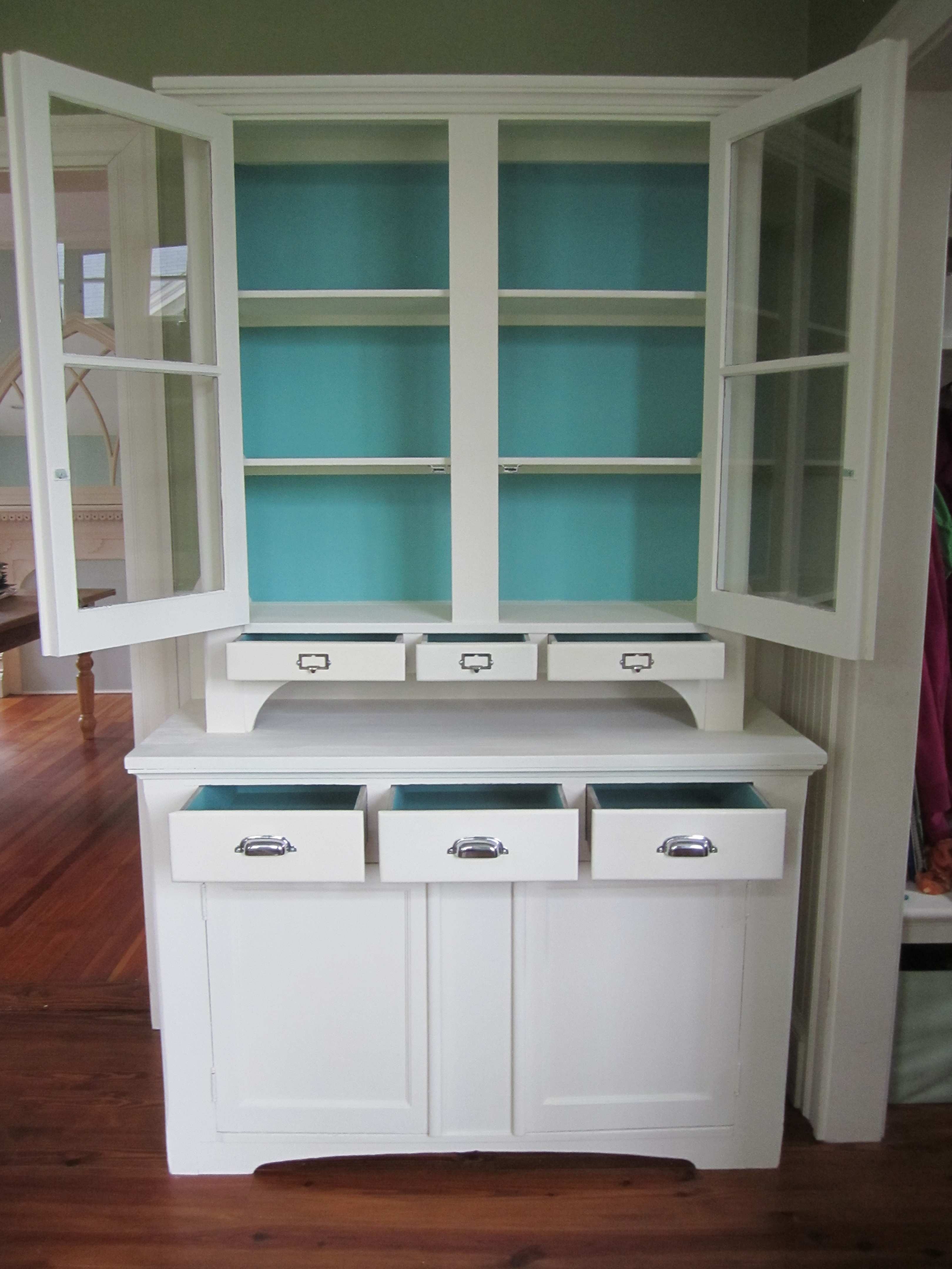 Painted Hutch Before Amp After