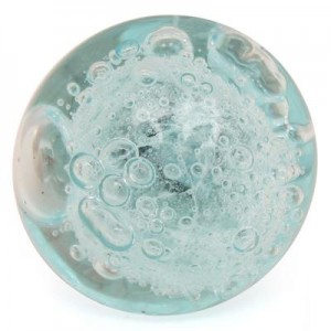 light aqua bubble knob