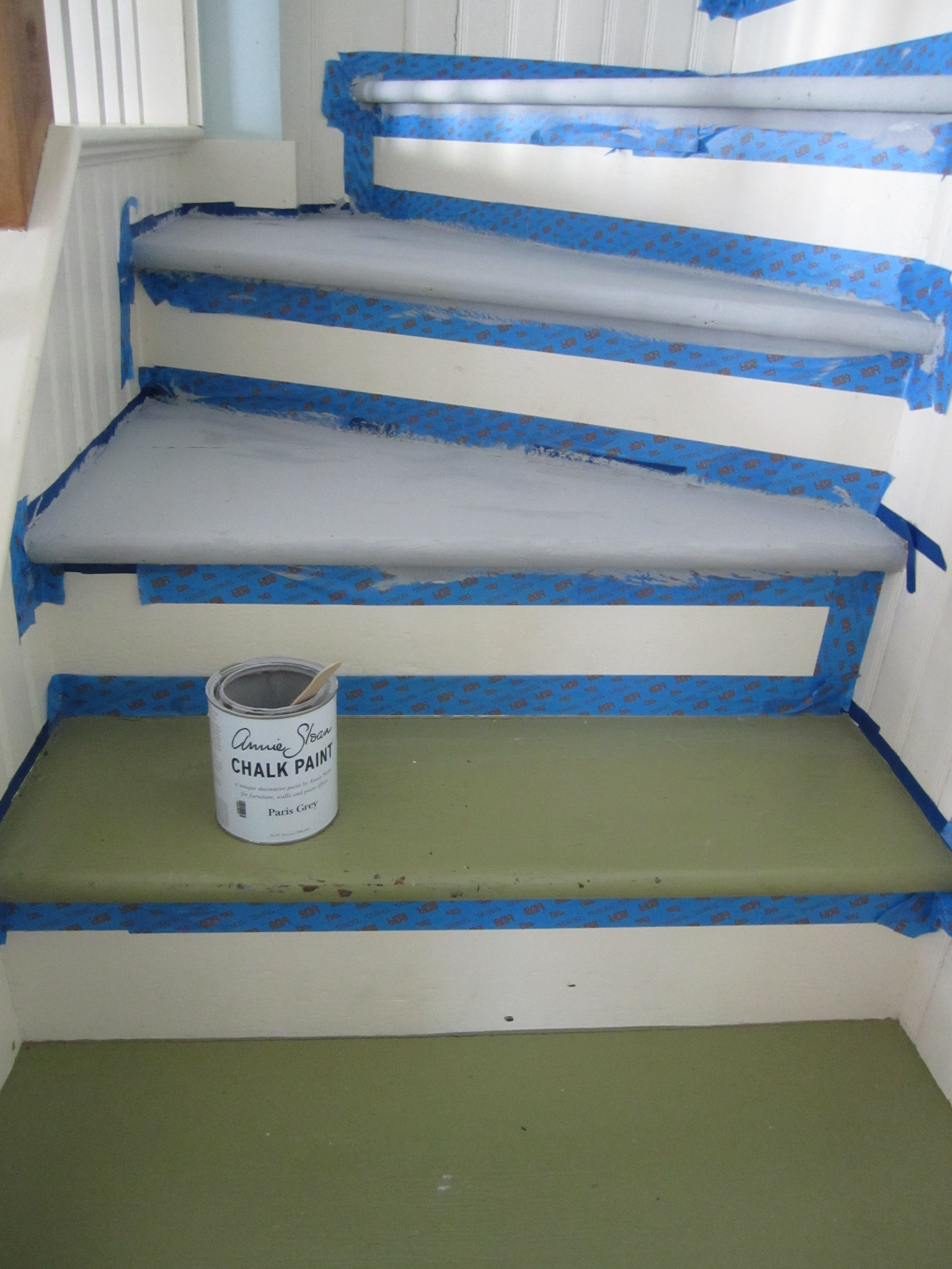Painted Stairs -During